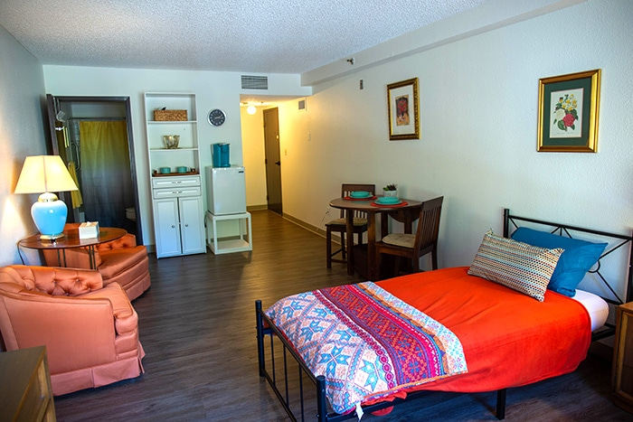 The Juniper Studio is a spacious and economical option for two people.