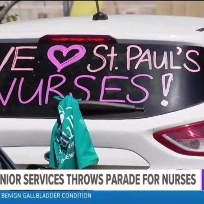 St. Paul's Senior Services Throws Parade for Nurses
