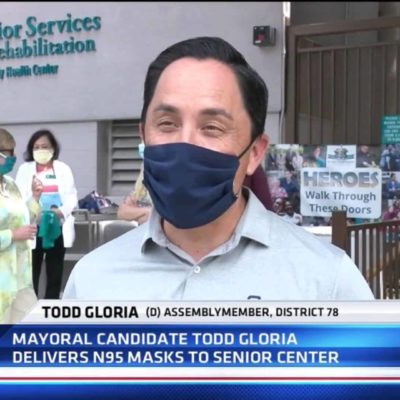Todd Gloria visits St. Paul's Senior Services and Donates N-95 Masks